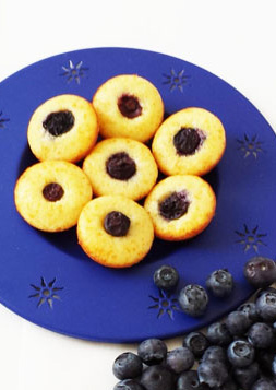 Mini Blueberry Yogurt Muffins - Small bites to have for afternoon break