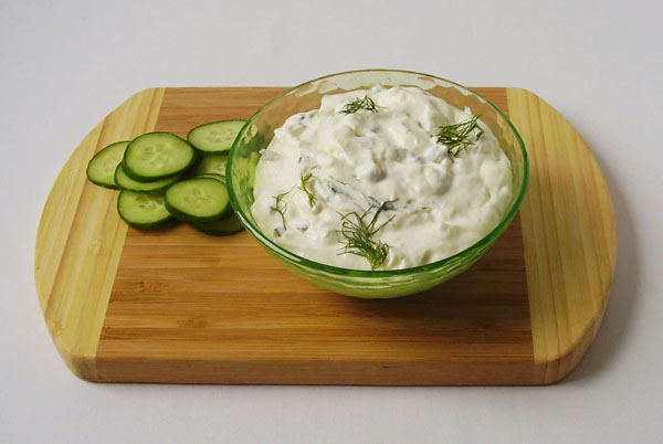 Homemade Tzatziki - Easy to make refreshing side dish, Greek style.