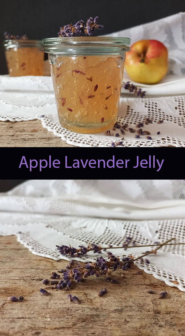 This amazing Apple Lavender Jelly is so easy to make ! You just follow the recipe and combine apple juice, lavender flowers, pectin and lemon juice and within fifteen minutes you have perfect fish glaze or jelly to assemble macarons.