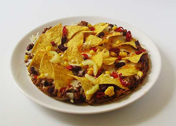 Tortilla Chips Breakfast Bake – mouthwatering breakfast Mexican way. Spicy and bursting with flavor !