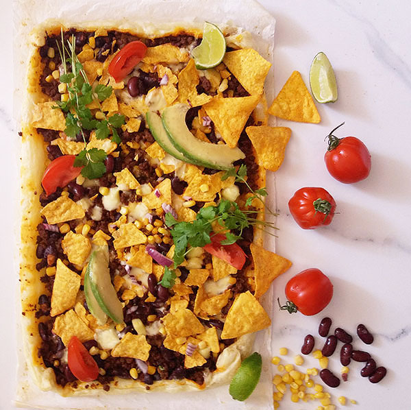 Tortilla Chips Breakfast Bake : mouthwatering breakfast or brunch, Mexican way. Tasty and bursting with flavor !