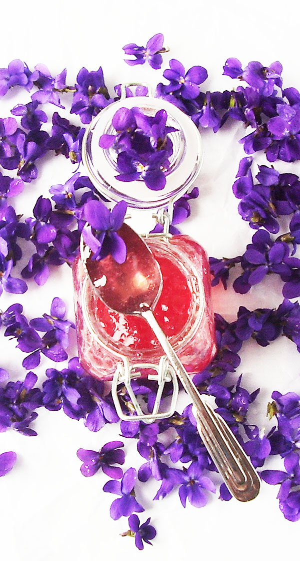 Violet Jelly: Spring Beauty captured in a jar. Delicate and profound. Gives very special taste to everything you do with it.