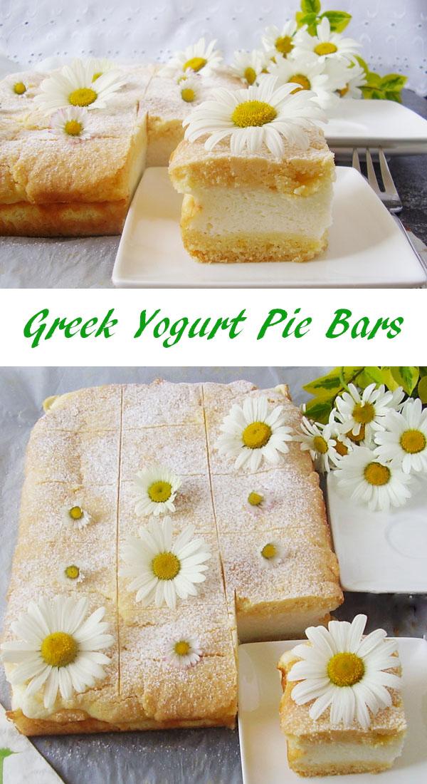 Greek Yogurt Pie Bars