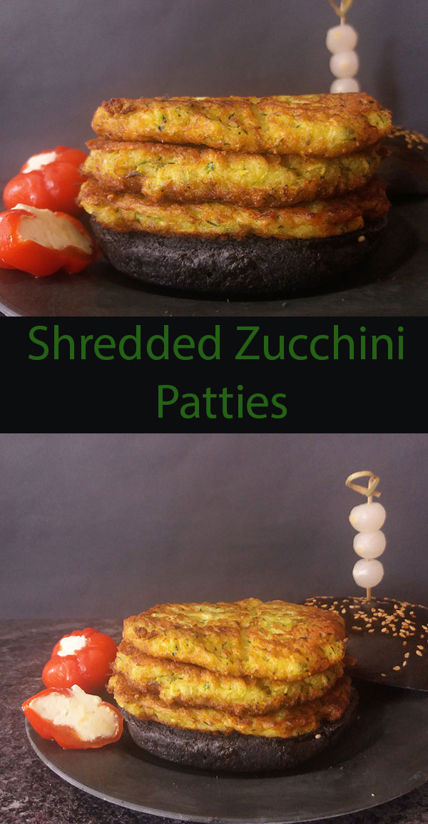 Shredded zucchini patties are super easy  and super delicious ! Evergreen every way !