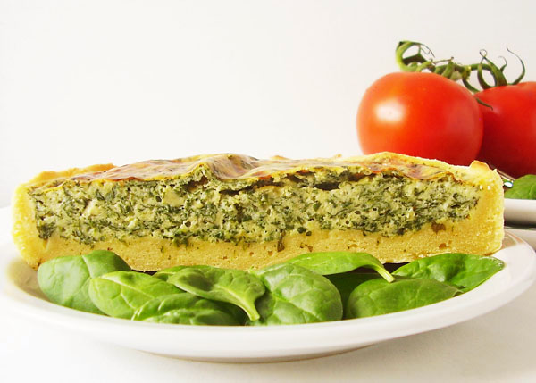 Rustic Vegetarian Spinach Tart - Mediterranean dish at its best !