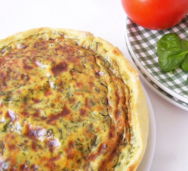 Rustic Vegetarian Spinach Tart - Mediterranean dish at its best !