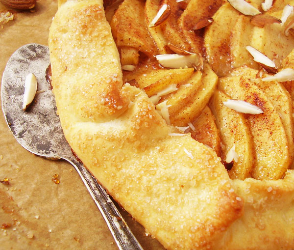 Apple Galette: delightfully open-faced rustic treat that is quick and easy to make with store bought pie crust.