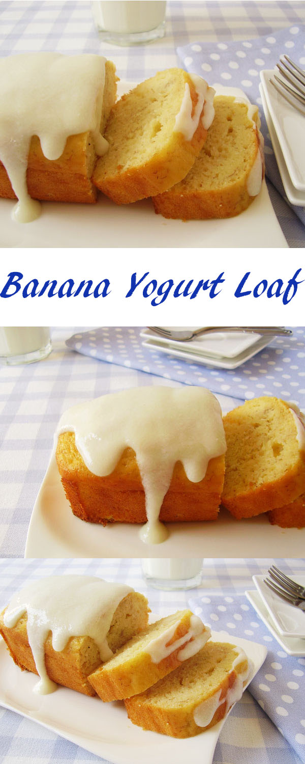 Banana Yogurt Loaf : moist, healthy and light breakfast for banana and yogurt lovers !