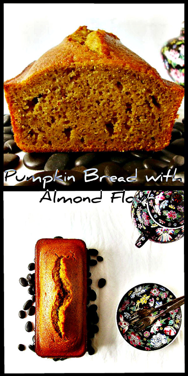 Pumpkin Bread with Almond Flour: traditional breakfast bread with an almonds kick.