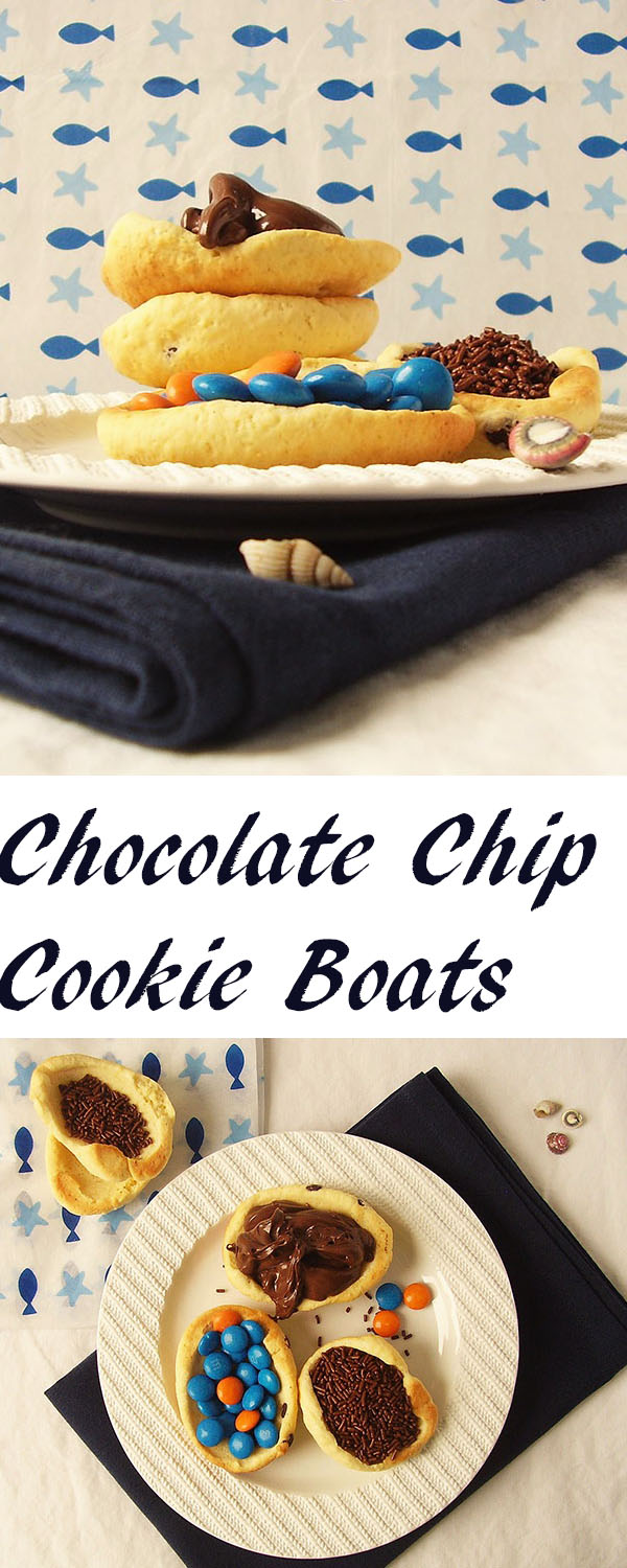 Chocolate Chip Cookie Boats: Roll, roll, roll the boats ...