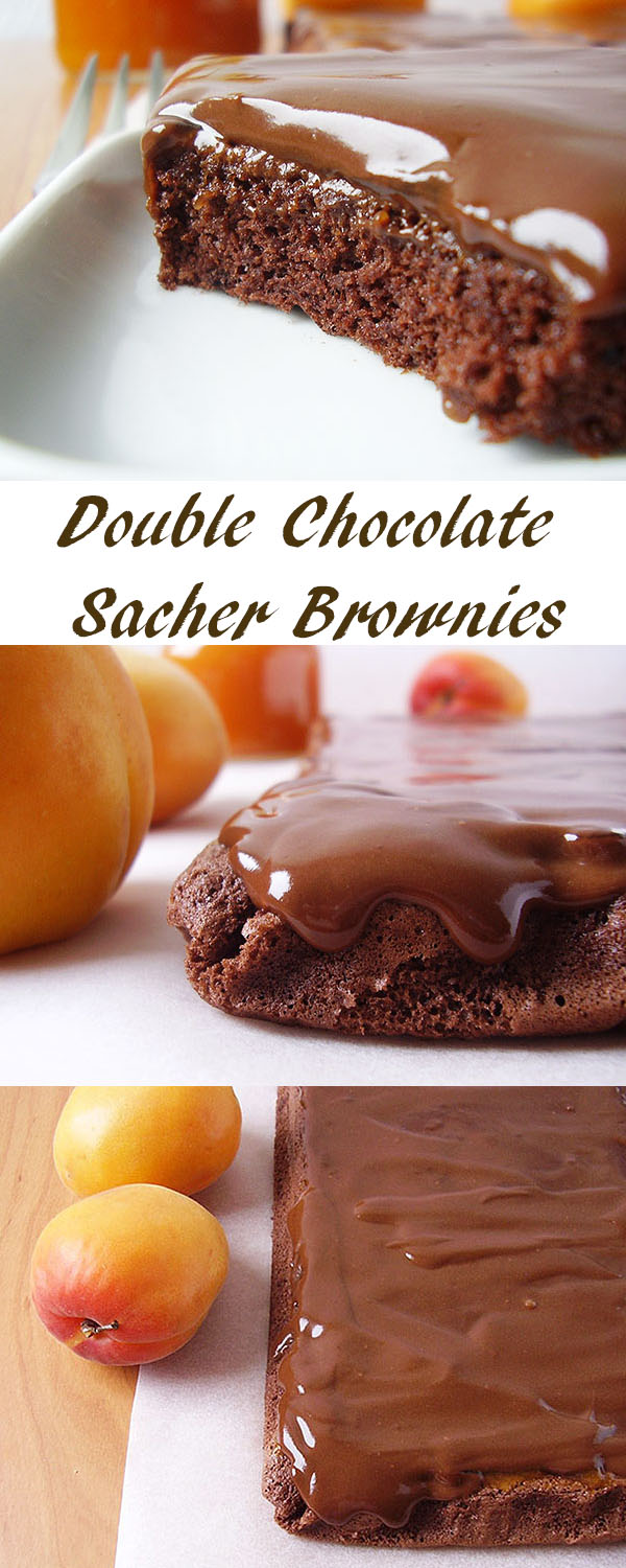 Double Chocolate Sacher Brownies: Franz Sacher who invented the famous cake would love it for sure !