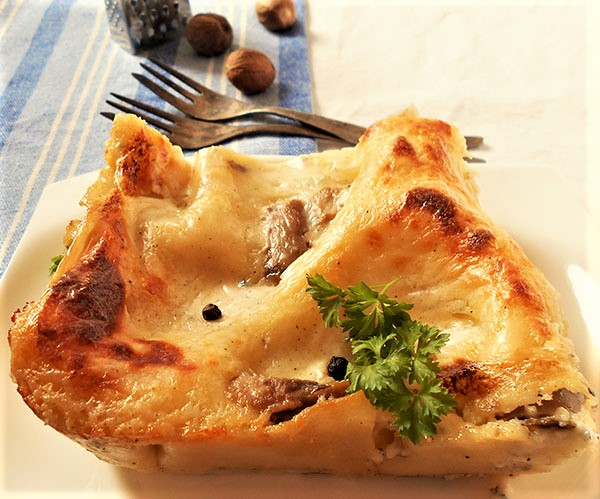 Mushroom and Cheese Lasagna: Garfield would love it, I'm sure !