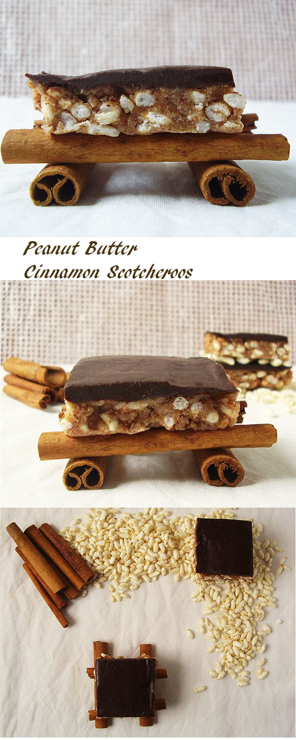Peanut Butter Cinnamon Scotcheroos: winter version loaded with cinnamon and chocolate !