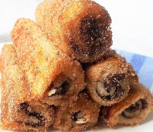 French Toast Rolls with Homemade Nutella: Joined forces with French Toast, homemade Nutella and Cinnamon are our new favourite, recently discovered!