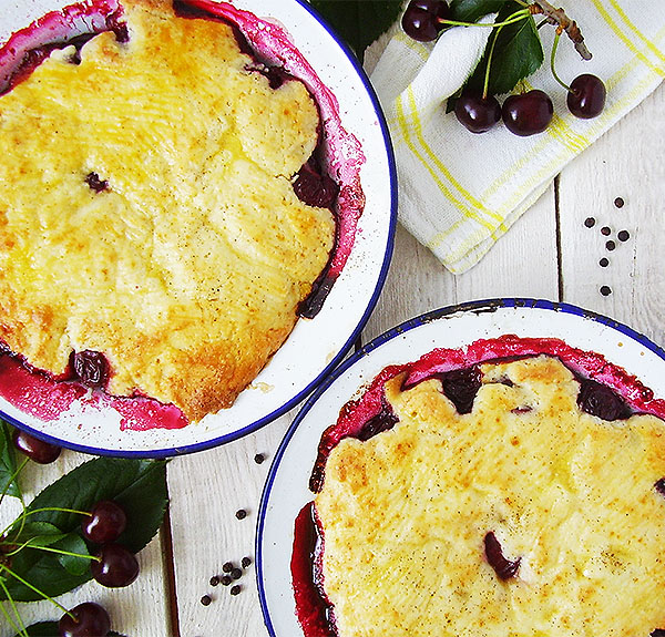 Sour Cherry and Black Pepper Cobbler: wartime recipe with an outlandish twist.