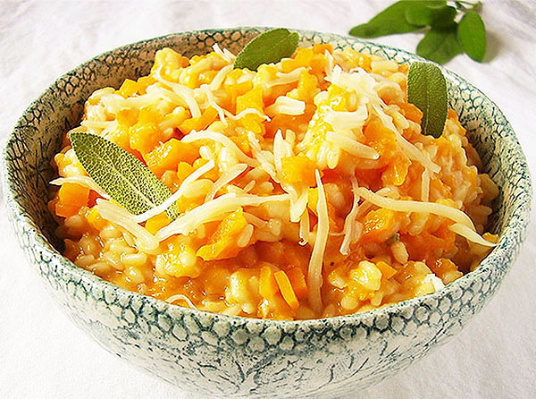 Butternut Squash Gorgonzola Risotto: in the mood.