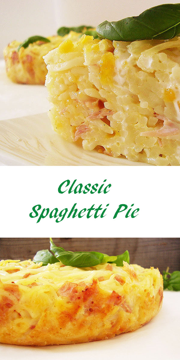 Classic Spaghetti Pie: Perfect savoury pie, Italian way !