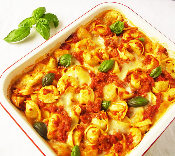 Tortellini al Forno Facile : Tortellini Bake Easy Way