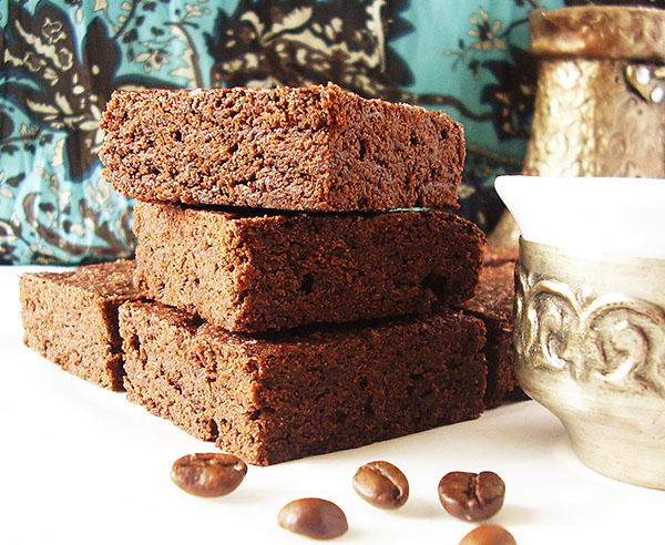 Turkish Coffee Brownies : ground both coffee and cardamom bring this all American favourite to completely new level.
