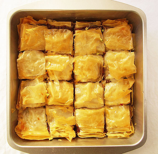 Gingerbread Cookie Dough Leftovers Baklava: sweet treat made from Gingerbread Cookie Dough Leftovers and phyllo.