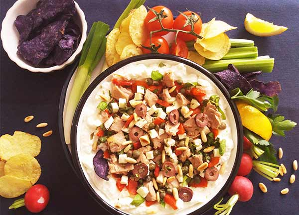 Italian Seven Layer Dip : Fresh and healthy ingredients make this one ideal for every season !