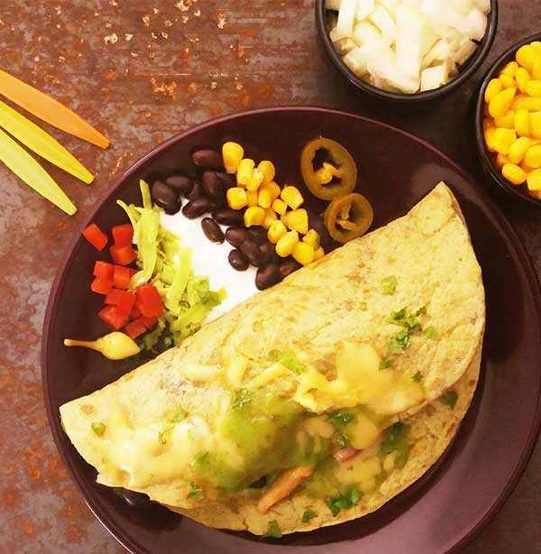 Mexican Chicken and Black Beans Green Tortilla Wraps : Cinco de Mayo delish made under 20 minutes.