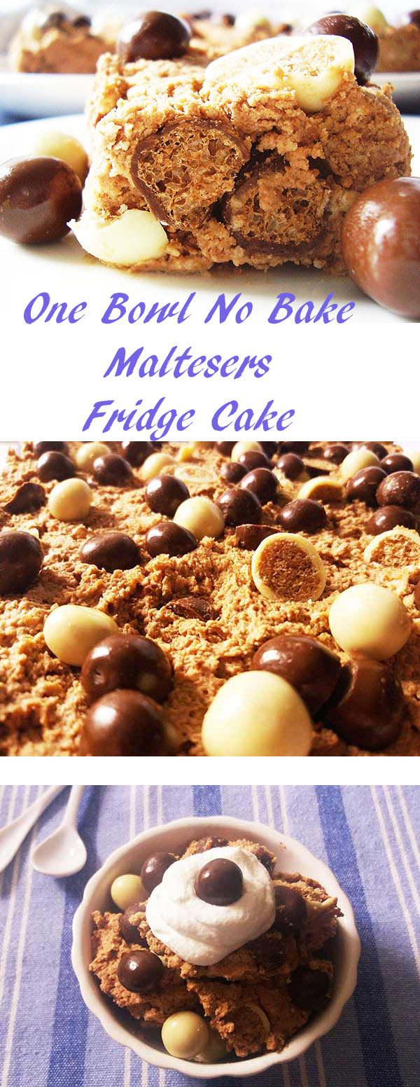 One Bowl No Bake Maltesers Fridge Cake : tasty, quick and easy !