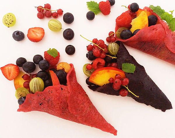 Forest Berries Crepes Salad : Highlight of the season !