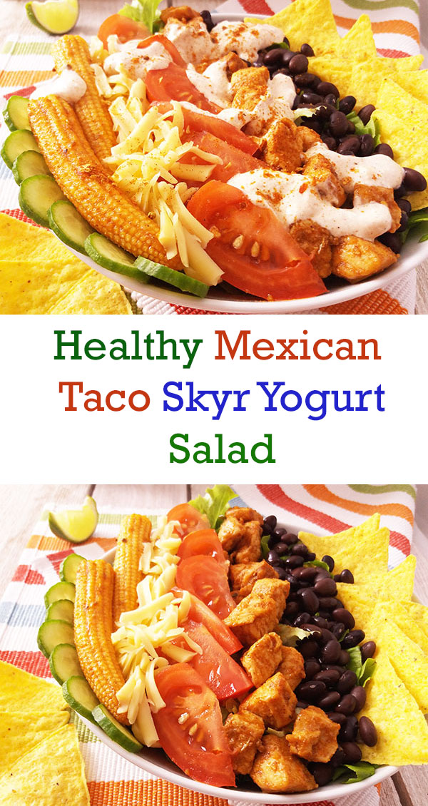 Healthy Mexican Taco Skyr Yogurt Salad : Healthy version of beautiful Mexican salad !