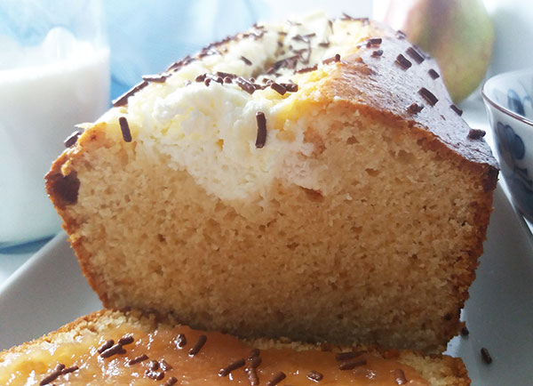 Pear Butter Cream Cheese Bread : made with pear butter and cream cheese, this simple – looking bead is our new favourite breakfast !