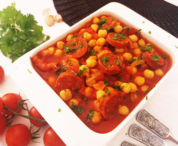 Spanish Chorizo and Chickpea Summer Soup : Gracias a La Vida !