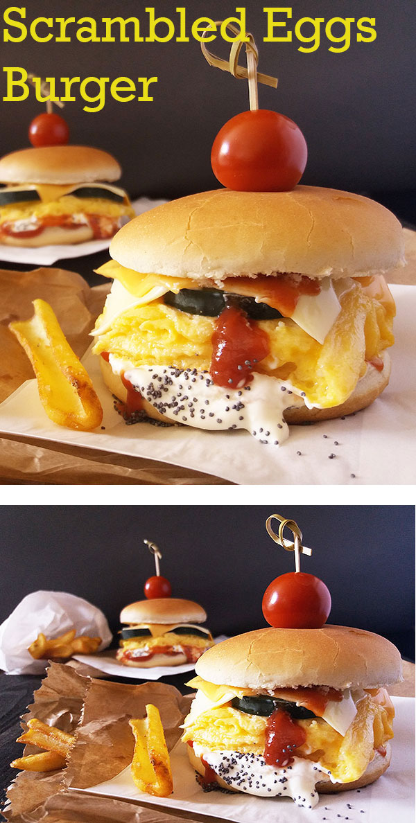 Scrambled Eggs Burger : if good enough for Franky Boy, good enough for me !