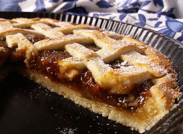 Fig Jam Italian Pie : Crostata di Marmelatta di Fico.