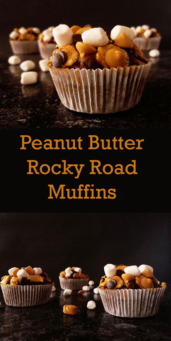 Peanut Butter Rocky Road Muffins : Highly recommended !