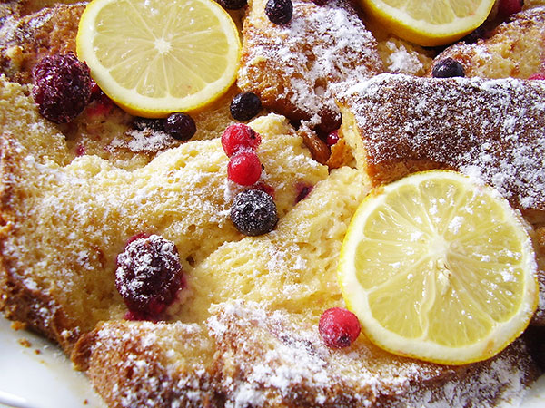 Panettone Leftovers Breakfast Bake : releasing inviting Italian flavours to easily start the day !