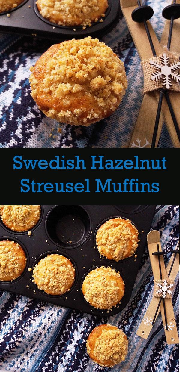 Swedish Hazelnut Streusel Muffins : Mycke bra ! Very good !