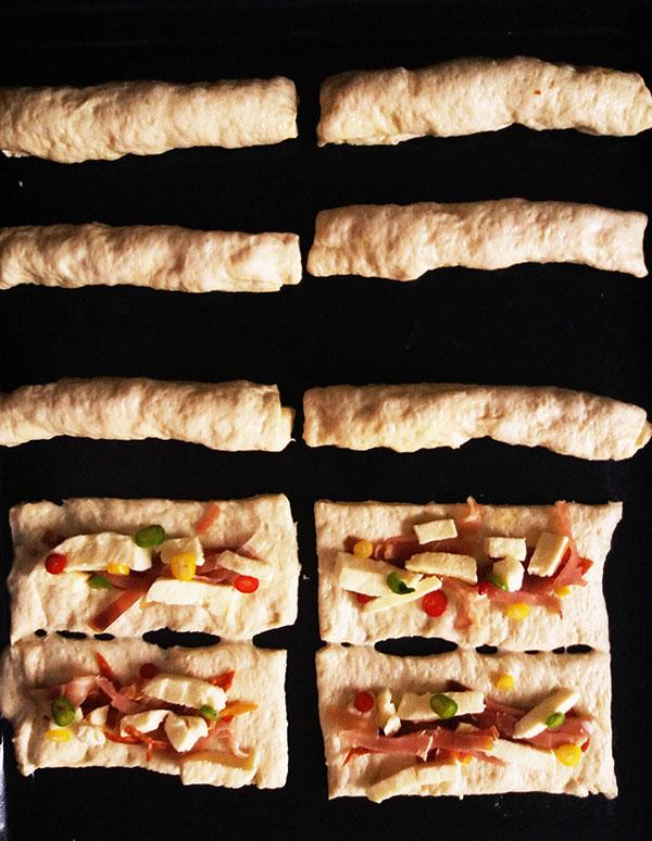 Cowboy Pizza Sticks : spicy appetizer.