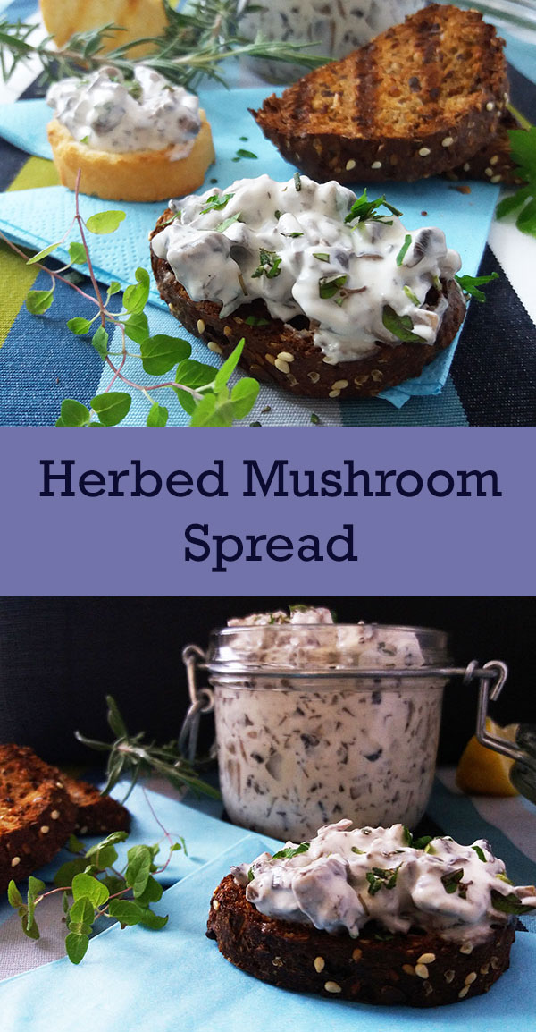 Herbed Mushroom Spread Recipe : made in 7 minutes only !