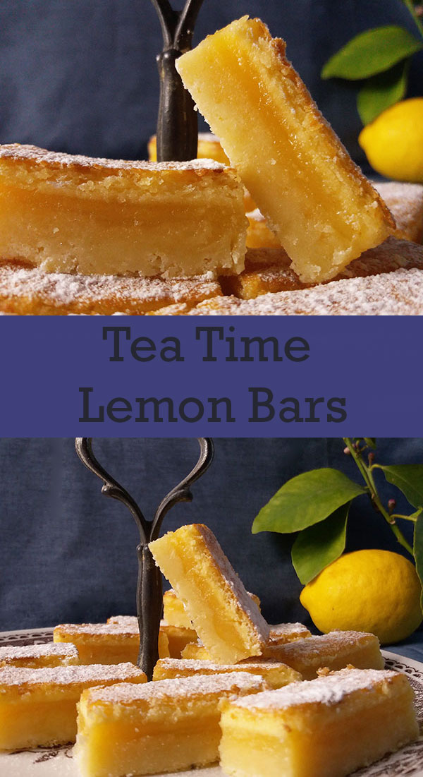 Tea Time Lemon Bars : tangy and sweet and, most of all, so refreshing.