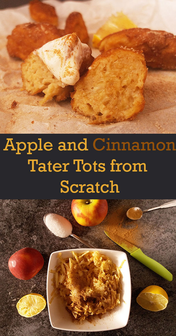"Apple and Cinnamon Tater Tots from Scratch : ""apple gnocchi"" would ring the bell to my grandmother."