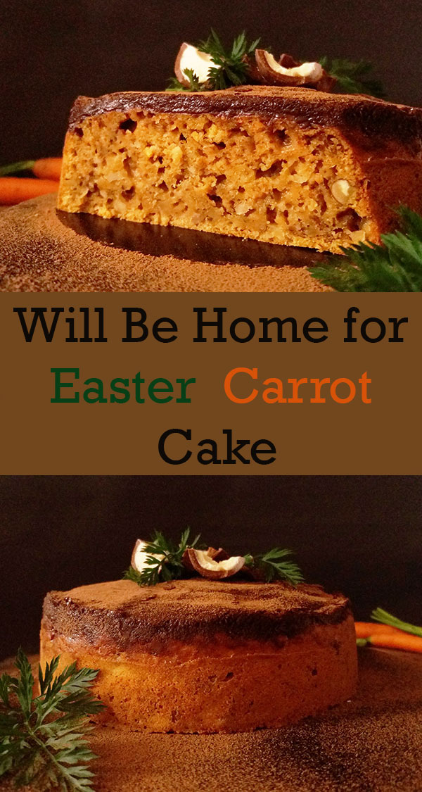 Will-Be-Home-for-Easter Carrot Cake : moist and full of flavours.