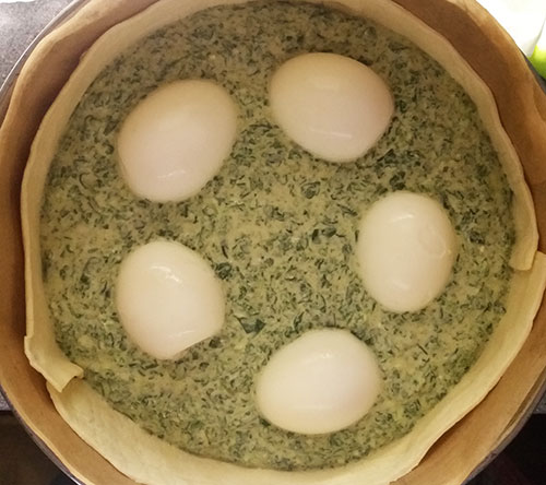 Ricotta and Spinach Quiche: simple, vegetarian, comforting and delicious !
