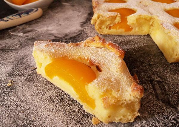 Greek Yogurt and Peach Tart : twist for the feast !