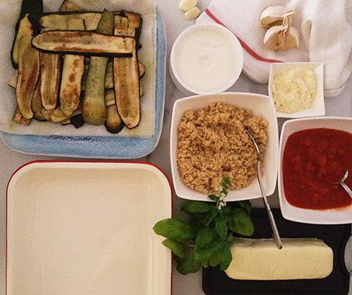 Grilled Zucchini Parmesan Recipe: Parmigiana di zucchine grigliate.