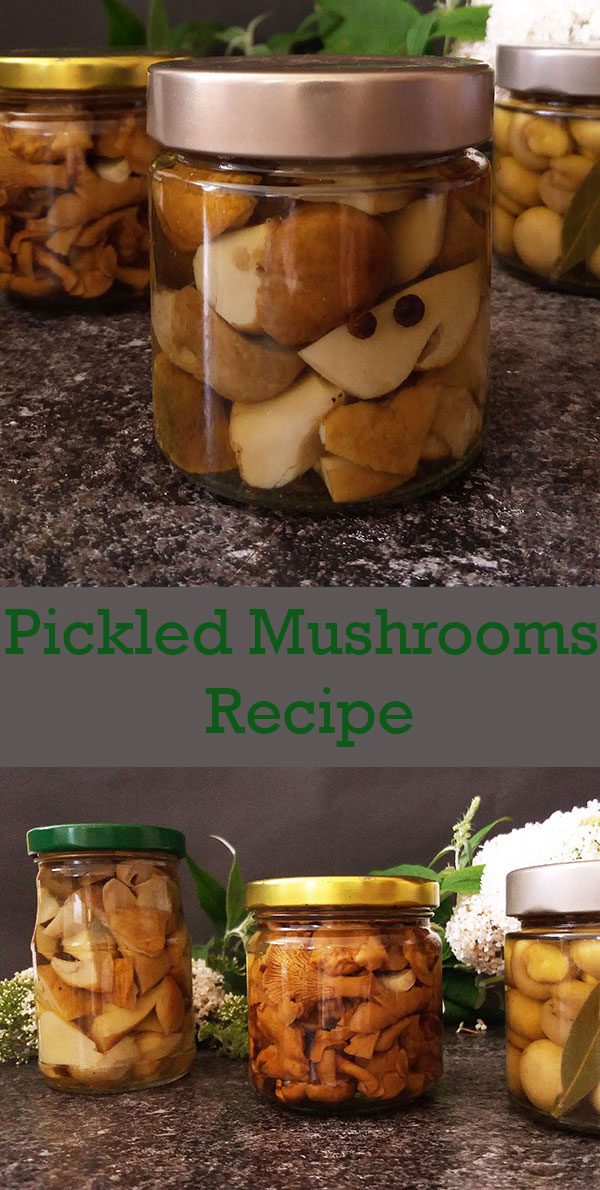 Pickled Mushrooms Recipe : Vintage way to celebrate beautiful gifts of late summer !