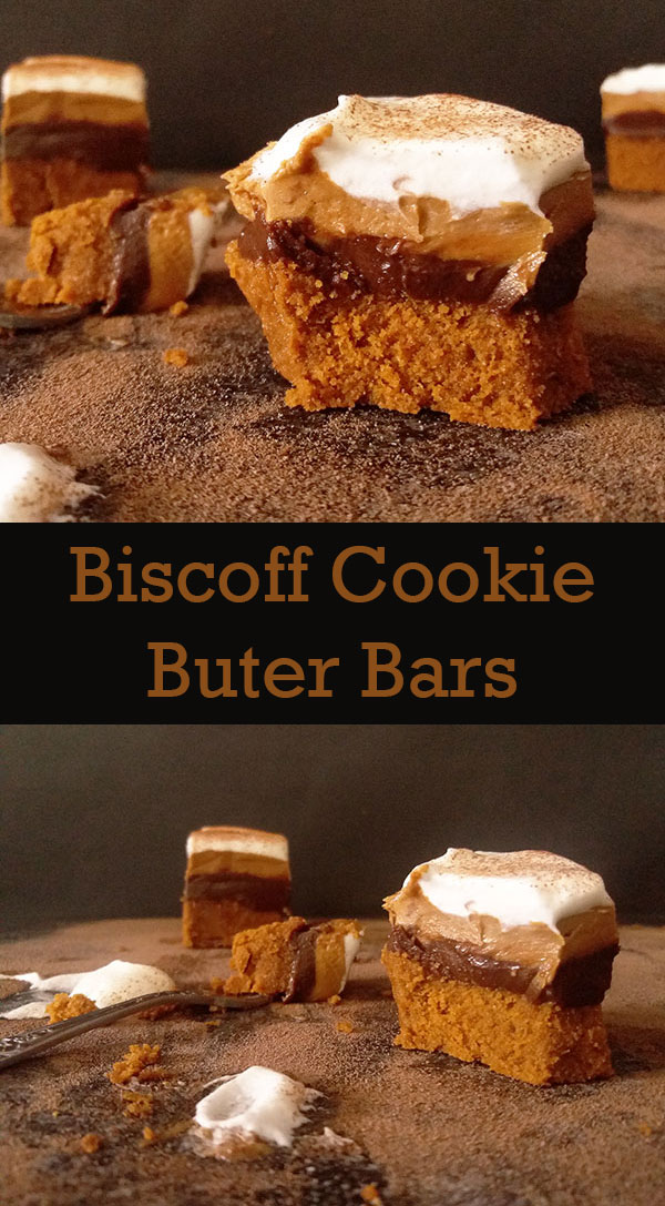 Biscoff Cookie Butter Bars : Biscoff cookies, chocolate and cokie buttter no bake bars are simply irresistible and so easy to make !