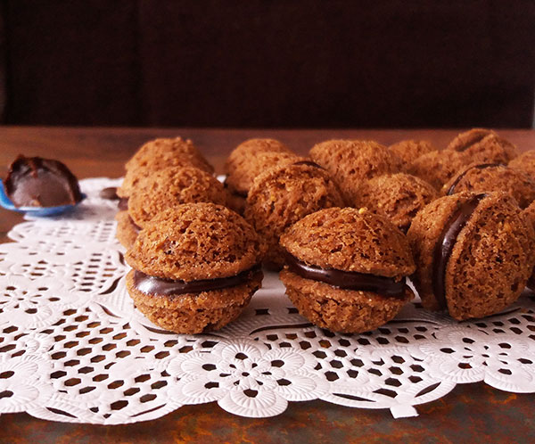 Espresso Hazelnut Sandwich Cookies Recipe : egg free delicately crisp exterior, and a soft and chewy inside. A thick layer of coffee filling seals the cookies perfectly.