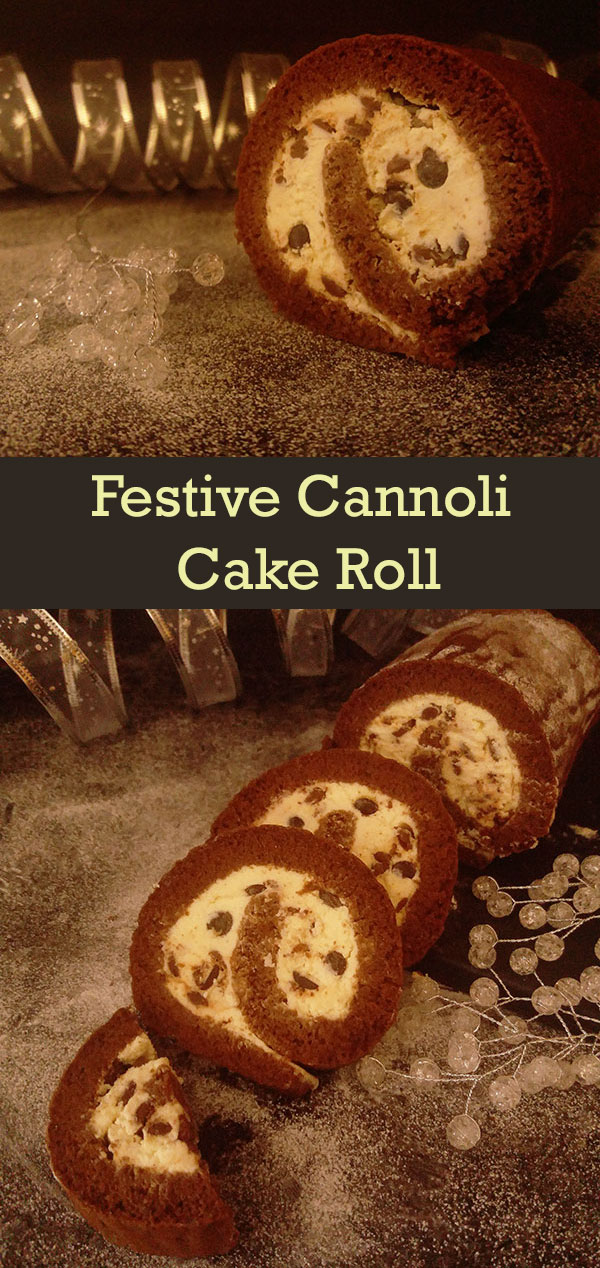Festive Cannoli Cake Roll : simple and light festive dessert, Italian way !