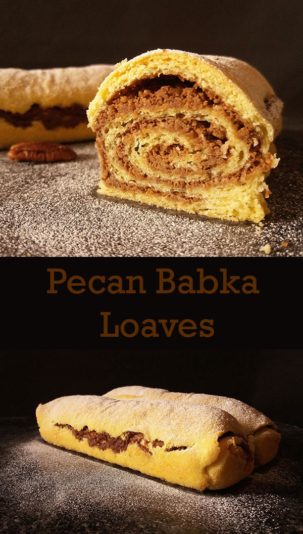 Pecan Babka Loaves: three loaves with detailed photos show how simple it is to make these loaves any time of the year !