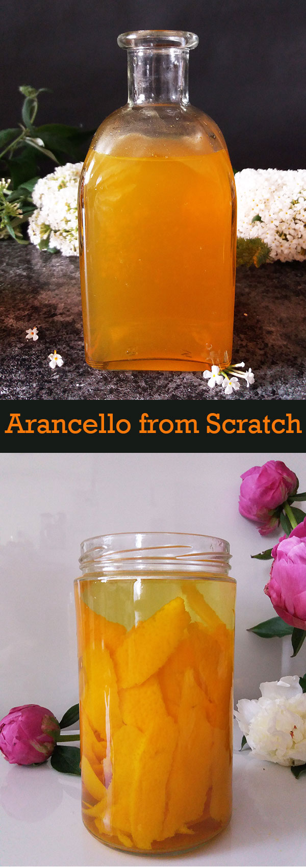 Arancello from Scratch : Orange Liqueur, homemade. Arancello fatto in casa, ricetta della nona. Four ingredients only to have the best arancello made completely from scratch !